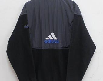Less 20% Adidas Sweater Vintage Adidas Sweater Jacket Fleece Jacket 90's Big Logo Hip Hop Rare sz S