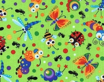 Blank Quilting Bugalicious 6569 Lime *Half Yard Cuts*