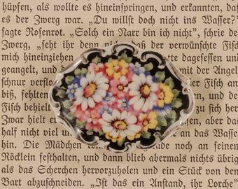 Brooch, porcelain, traditional brooch