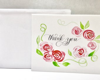 Watercolor thank you notes