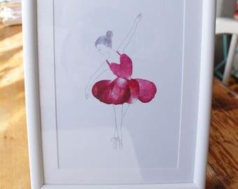 Print of ''Ballerina in Flowerdress''