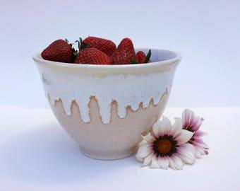 Ceramic bowl, handmade pottery, stoneware serving bowl, modern tableware, contemporary dinnerware, unique white bowl, original gift idea