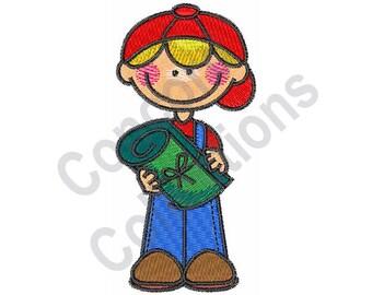 Boy Camper - Machine Embroidery Design, Boy, Camper