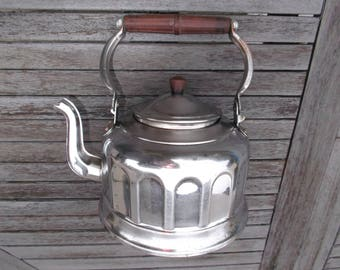 Kettle chrome and bakelite - old French Kettle chrome brass - decorative kitchen Kettle french campaign - pot chrome and bakelite