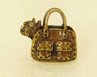 Charm Yorkshire Terrier In A Handbag