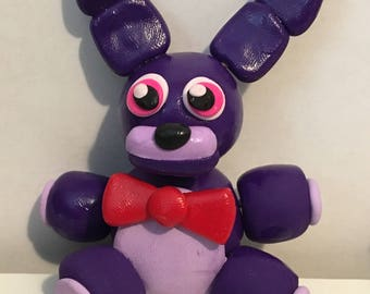 "FNAF BONNIE clay figure figurine 2"" tall Five Nights at Freddy's"