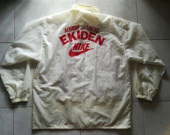 Vintage 80's 90's windbreaker Nike Ekiden running event marathon  Aomori Tokyo Japan