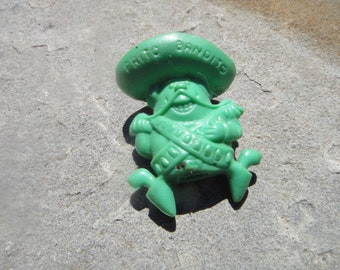 "1968 FRITO BANDITO Green Eraser Pencil Topper Frito-Lay Erasers Advertising Premium/Fritos"" Pencil Erasers"