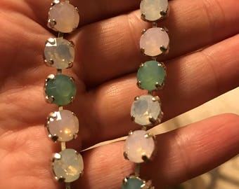 Swarovski crystal necklace in pastel opal hues