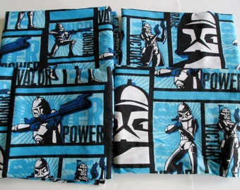 Star Wars Curtain Panels, Set of Two Star Wars Drapes, Stormship Troopers Curtain Panels