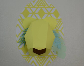 trophy bear origami paper Kit DIY