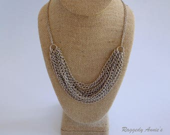 Silver Chain Layer Necklace