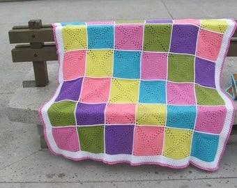 large squares crochet blanket