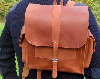 Leather backpack, handmade backpacks, backpack custom, backpack original