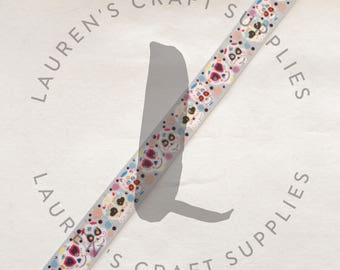 "Day of the Dead Ribbon | Cute Halloween Ribbon | Halloween Ribbon | Hairbow Ribbon | US Designer Ribbon | 7/8"" Ribbon | Grosgrain Ribbon"