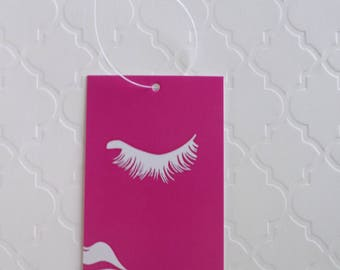 100 PRICE TAGS HANG Tags Retail Tags Boutique Tags Cute Pink Face Girl Merchandise Tags Clothing Tags With 100 Plastic Loops