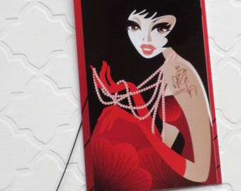 100 FASHION BOUTIQUE ACCESSORIES Clothing Price Tags Pretty Girl in Red With Plastic Loops at Etsy