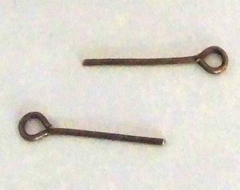Nails for jewelry in antique bronze round head - sold by 10-18mm