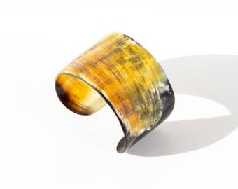 Gross Horn Cuff Bracelet. made in Haiti