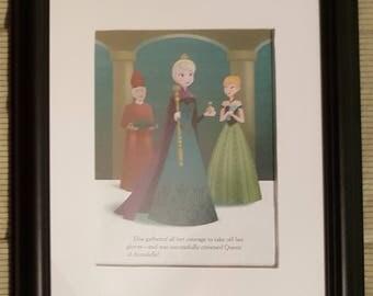 Elsa Crowned Queen of Arendelle - Frozen - Disney - Aproximaitely 6 x 8 inches