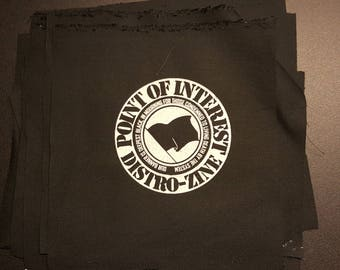 Point Of Interest Zine - Our Banner Is Deepest Black In Mourning For Those Condemned To Living Death By The System patch