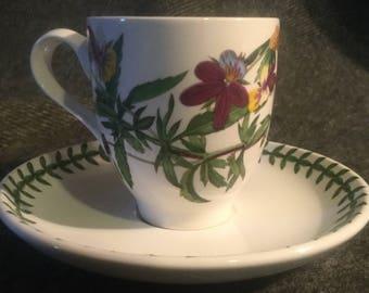 Portmeirion Botanic Garden Coffee Cup and Saucer - Viola