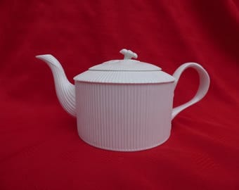 Vintage Teapot, Crown Staffordshire, Leedsware 19th Ct. Reproduction