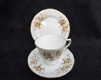 Vintage Colclough Cups, Saucers and Side plates, Fine Bone China