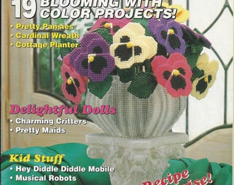 Plastic Canvas Magazine Vintage Number 25 March / April 1993 Patterns Projects