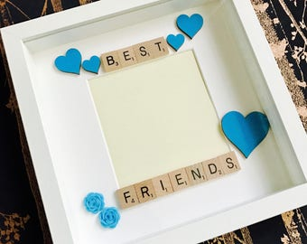 Best Friends Frame, Personalised Best Friends Gift Frame, Best Friends Photo Frame, Bestest Friend Gift Frame, Special Friends Box Frame