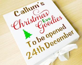 Special Christmas Eve Box, Christmas Eve Storage Box, Christmas Eve Goodies, Special Christmas Box, Night Before Christmas Gifts, Santa Box