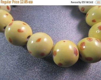 ON SALE 15% OFF Ceramic Round Beads 14pcs
