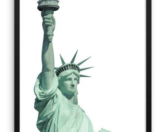 Statue of Liberty Print | Large Wall Art | Poster | New York City | NYC | Travel | Apartment Decor | Famous Places | USA | Cool Posters