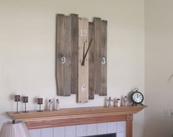 Large Wood Pallet Clock