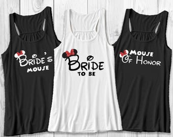Disney bachelorette party shirt - Bride to be and Bride's mouse