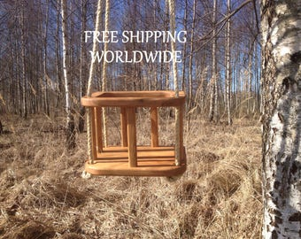 Simple Eco Wooden Baby Swing, Kids Wooden Swing, Tree Swing, Old Fashioned Natural Oak OR Ash Tree Baby / Toddler Swing