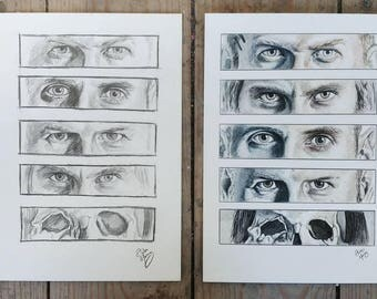 Elan Vital - Mastodon Inspired - Paint & Pencil A4 Prints