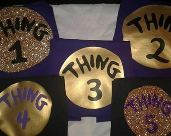 Purple Thing 1 /Thing One/Thing Two/Thing Three/Thing Four/Dr Suess/