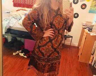 60s Vintage Indian Hippie Dress
