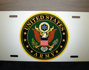 US ARMY Metal Novelty License Plate For Cars And Trucks  U.S. ARMY