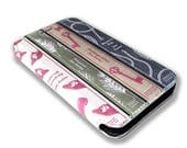 Jane Austin Vintage Retro Library Book Collection iPhones and Samsung Galaxy Full Wrap Print Leather Cover F023