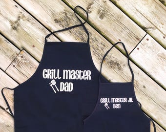 PERSONALIZED DADDY & ME Aprons, Father's Day Aprons, Father and Son Aprons, Father and Daughter Aprons, Apron Set Child