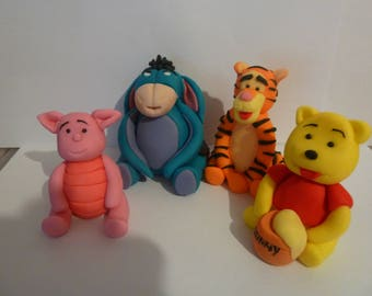 Edible Winnie the pooh,Eeyore,Piglet,Tigger,cake topper,decoration,birthday,boy,girl,christening,baby
