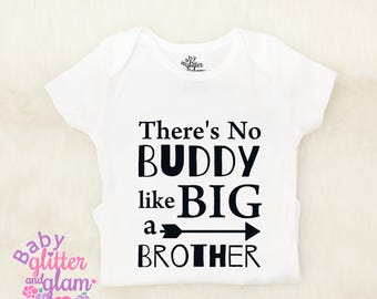 Big Brother Shirt, There's No Buddy Like a Big Brother, Promoted to Big Brother, I'm going to be a Big Brother, Big Bro Boy Sibling Shirt