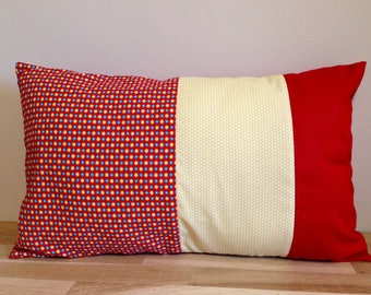 30 x 50 red and yellow Patchwork Cushion cover