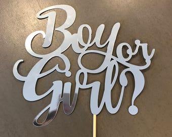 Boy Or Girl? Cake Topper