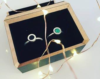 Silver ring with natural stones, malachite, onyx, lapislazuli · SOMNI Ring ·