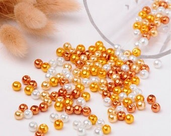 M* - 6 mm or  Glass Pearl Mix, Caramel Mix (2077)