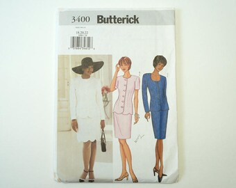 Butterick 3400 Misses' Petite Jacket & Skirt Paper Sewing Pattern Size 18, 20, 22 Uncut