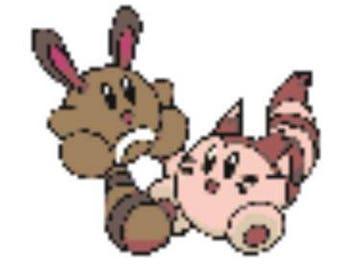 Sentret and Furret Chibi Perler Bead Sprite Pattern - Pixel Pokemon Pixel Jewelry 8 bit  Video Game Ferret